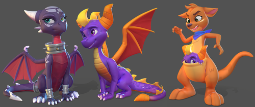 Spyro Group Poses 1 by Lemurfeature