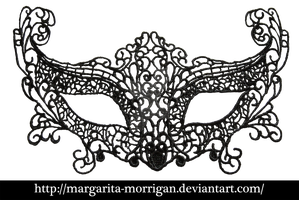 Lacy black mask 1 by margarita-morrigan