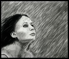 The Girl in the Rain by trixxx