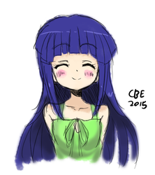 Rika chan sketch by CrimsonBugEye