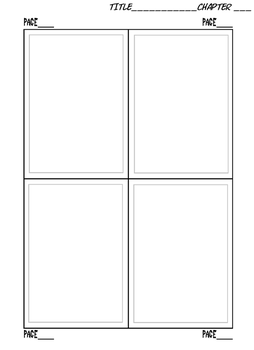 Page Plan Out Sheet by Comic-Templates