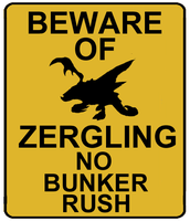 Beware of zergling by Dalthedragon
