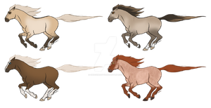 SSotC-Style Horse Adopts (2/4 Open REDUCED) by ChiOchiAdopts