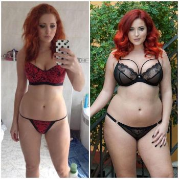 lucy collett belly before and after. by fatlover24