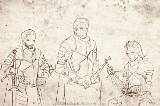 The Kingsguard at the Tower of Joy (WIP) by CaptainBombastic