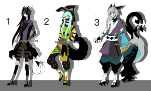 kemonomimi adoptables open 1/3 by AS-Adoptables