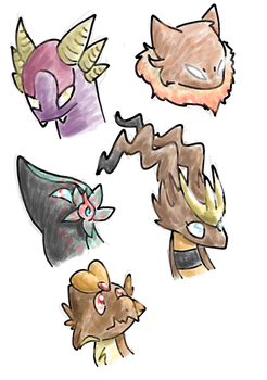 Phone doodle headshots by careas