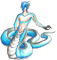 Blue Snake by SepiSnake