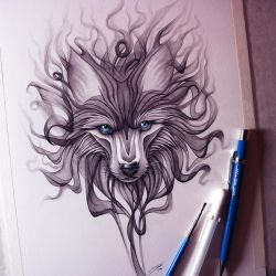 Smoke Wolf Drawing by LethalChris