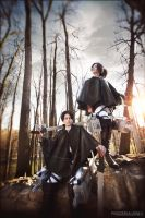Cosband WTF People - Levi, Hanji by fausto-The-Endless
