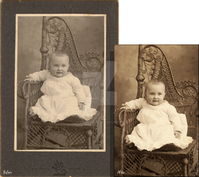 Baby Photo Restoration by PhotoRevival