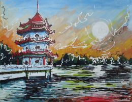 Pagoda by LauraHolArt