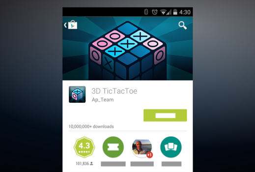 3d Tictactoe Android Promo Graphic by Artworkbean by artworkbean