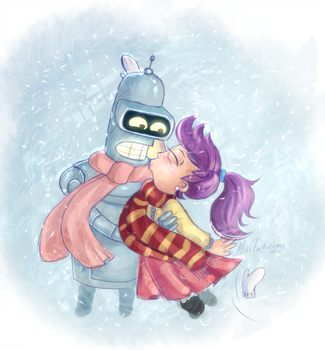Snowin Lovin by MissFuturama