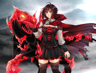 Commission: Ruby's Crystal Grimm by manu-chann