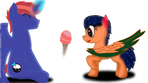 mlp  here your IceCream ! by swiffer-the-alicorn