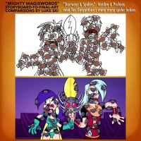 Mighty MagiSwords Storyboards - Spider babies by artbylukeski