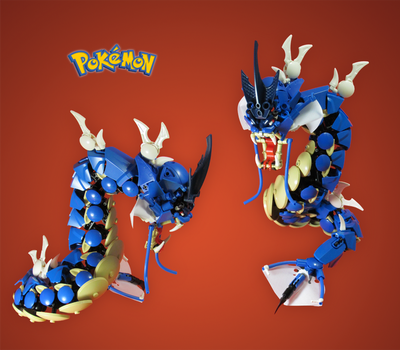 Commission 3/3: Gyarados by retinence