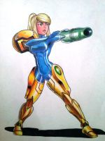 almost zero suit samus by chacrawarrior