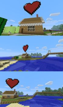 Minecraft heart house by SoulofGrey