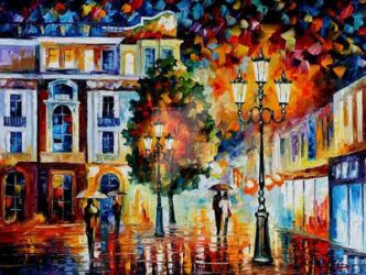 Lonely Couples by Leonid Afremov by Leonidafremov