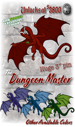 RPG Dragon Dungeon Master Enamel Pin by The-GoblinQueen