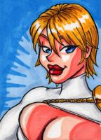 Power Girl Sketchcard by Artassassin