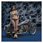 HEAVY METAL PRINCESS With Motorcycle by 12CArt