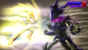 Sonic Versus Metal Sonic Desktop Background by CCI545