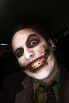 Zombie Joker Closeup by Epic-Leather