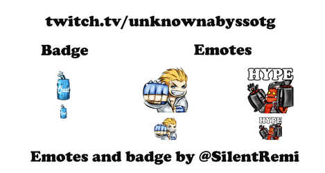 [Commission] Unknown Abyss Emotes and badge by SilentRemi