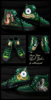Harry Potter Chucks by willdrawforfood