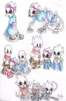 GB! SkeleFrisk (feat. Papyrus and Sans) by AnaNini