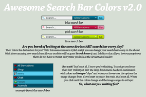 Awesome Search Bar Colours 2.0 by Freaksville