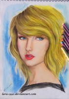 taylor swift(oil pastels) by TheLife-IsArt