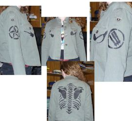 Stencilled Military Jacket by sapphirelotus