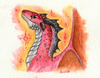 Little Red Dragon by LeviaDraconia