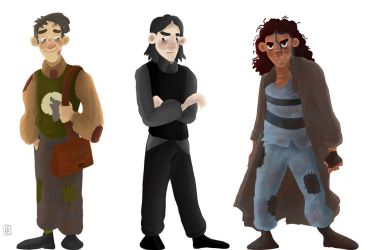 Character Design - Lupin, Snape and Sirius Black by Giorgia99