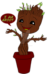 Baby Groot by LooneyArtist