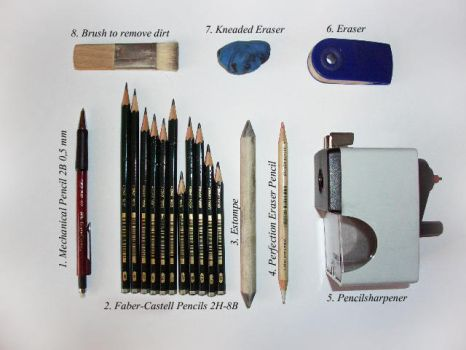 What you need for a pencil drawing by 12littlegiant21
