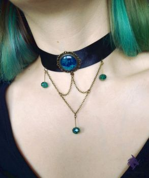 Choker necklace by MelanieTheDragon