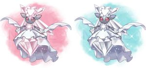 MEGA Diancie and shiny MEGA Diancie