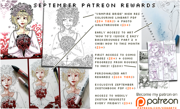 Patreon Rewards | September 2017 by keh-arts