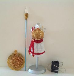 Shield Maiden Kerria Bead Dress (Straight On) by pinkythepink