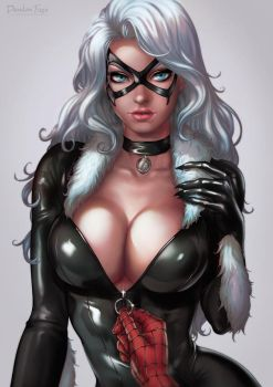 Black Cat Portrait by dandonfuga