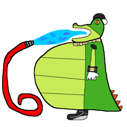 Vector the Crocodile filling himself with water. by fifimcfeef