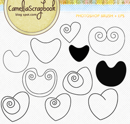 Heart photoshop brushes and eps by cameliaRessources