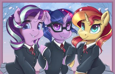 Canterlot highschool Friendship club by Ardail
