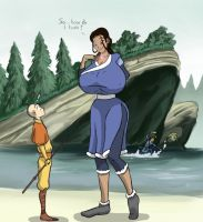 Katara and the Necklace of Growth by caiman2