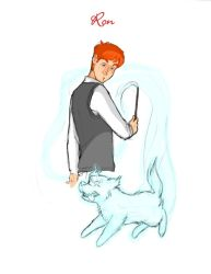 Ron's Patronus by BehindtheVeil
